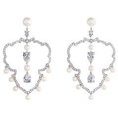 Imperial Pearl Hoop Earrings
