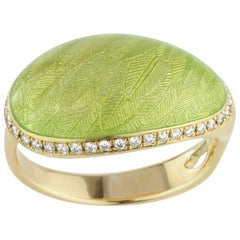 Fabergé Limited Edition Enamel and Diamond Ring