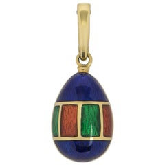 Faberge Limited Edition Gold and Enamel Victor Mayer Egg Charm