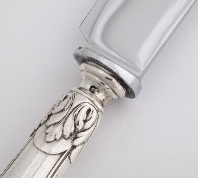 Fabergé Neoclassical Silver Dinner Knife and Fork, Moscow, circa 1900 For Sale 7