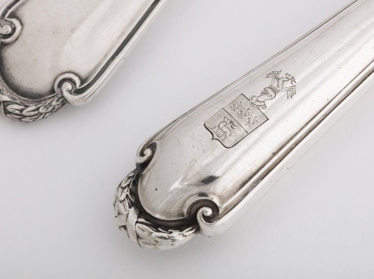 Fabergé Neoclassical Silver Dinner Knife and Fork, Moscow, circa 1900 For Sale 8