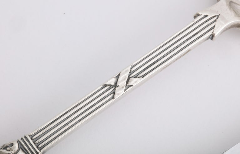 Fabergé Neoclassical Silver Dinner Knife and Fork, Moscow, circa 1900 For Sale 4