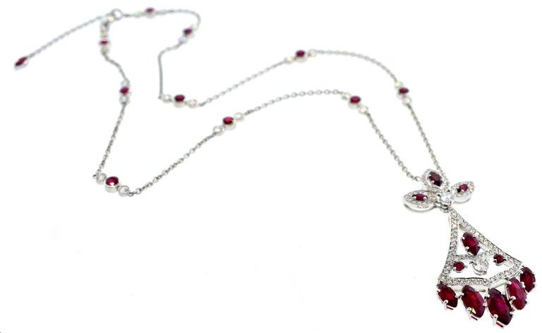 Faberge NY, Ruby and Diamond Pendant Necklace For Sale 6