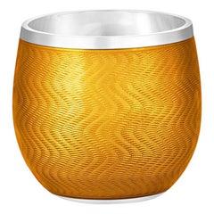 Orange Enamel Shot Glass