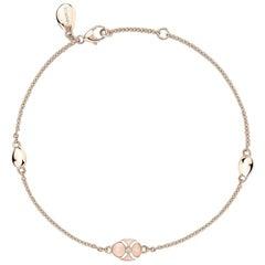 Palais 18K Rose Gold Chain Bracelet With Pink Enamel