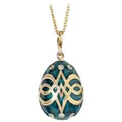 Fabergé Palais Gatchina Heritage Collection Petrol Blue Pendant