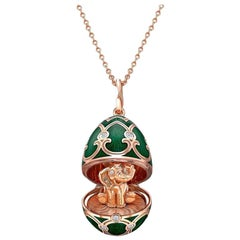 Palais Tsarskoye Selo Emerald Green Locket with Elephant Surprise