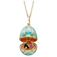 Palais Tsarskoye Selo Turquoise Locket with Ladybird Surprise