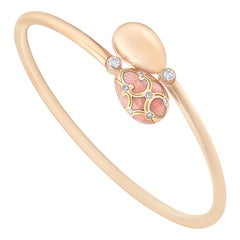 Fabergé Palais Tsarskoye Selo Rose Crossover Bangle 18 Karat Rose Gold Bracelet