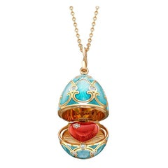 Palais Tsarskoye Selo Turquoise Locket with Heart Surprise