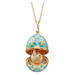 Palais Tsarskoye Selo Turquoise Locket with Hen Surprise