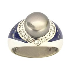 Fabergé Pearl and Diamond Ring F1790