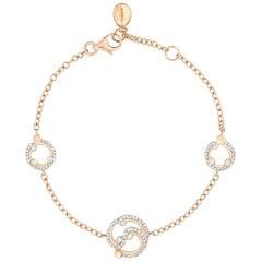 Fabergé Rococo Rose Gold & Diamond Chain Bracelet