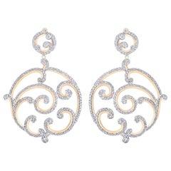 Fabergé Rococo Rose Gold Diamond Grand Earrings