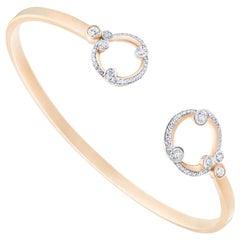 Fabergé Rococo Rose Gold & Diamond Open Set Bracelet