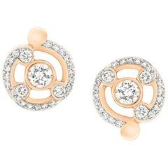 Fabergé Rococo Rose Gold Diamond Stud Earrings