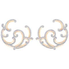Fabergé Rococo Rose Gold Diamond Earrings