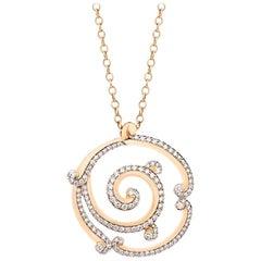 Fabergé Rococo Rose Gold & Diamond Pendant