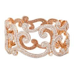 Fabergé Rococo Rose Gold Diamond Bracelet