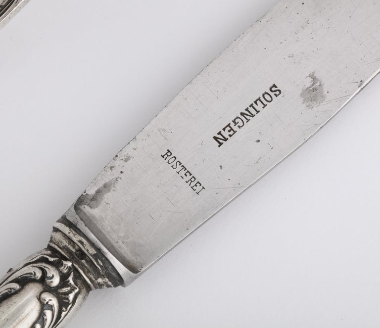 Fabergé Silver Dinner Knife and Fork, Moscow, circa 1900 For Sale 5
