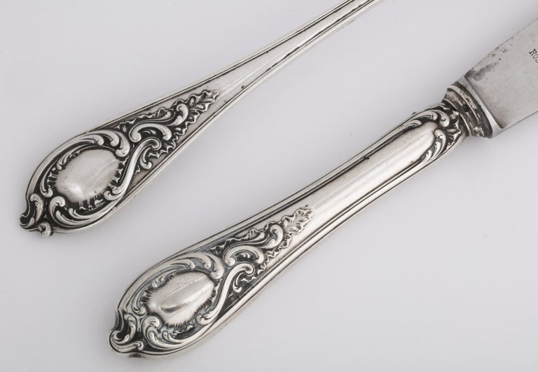 Fabergé Silver Dinner Knife and Fork, Moscow, circa 1900 For Sale 6