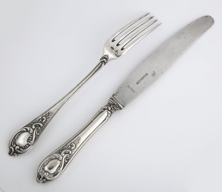 Fabergé Silver Dinner Knife and Fork, Moscow, circa 1900 For Sale 7