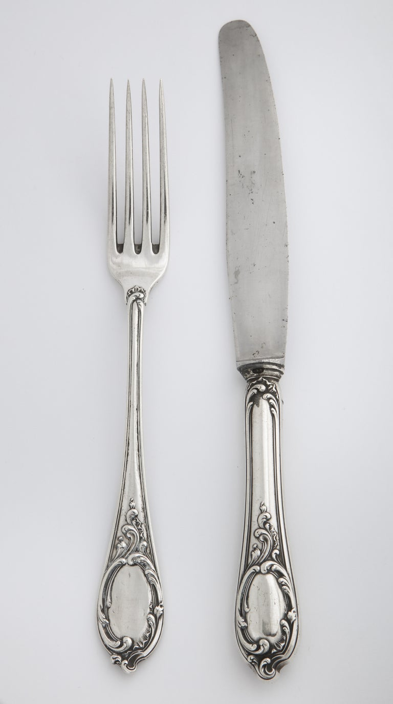 Fabergé Silver Dinner Knife and Fork, Moscow, circa 1900 For Sale 8
