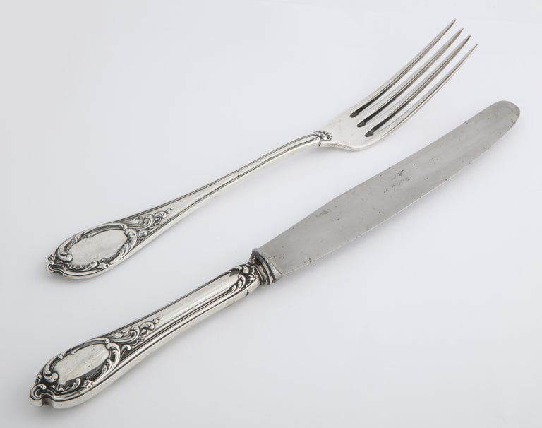 Fabergé Silver Dinner Knife and Fork, Moscow, circa 1900 For Sale 9