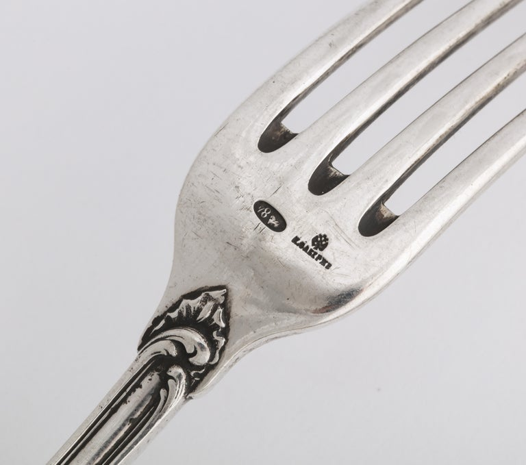 Fabergé Silver Dinner Knife and Fork, Moscow, circa 1900 For Sale 3