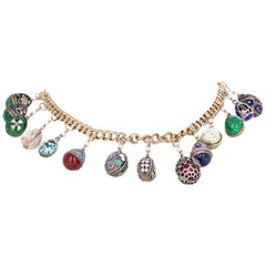 Faberge Style Charm Necklace