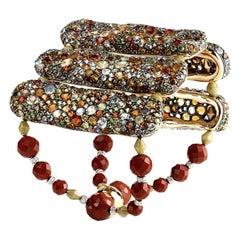 Fabergé Tzigane Gold & Silver Bracelet With Coloured Diamonds & Gemstones