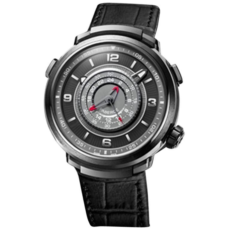 Fabergé Visionnaire Chronograph Men's Black Ceramic Watch