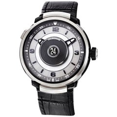 Fabergé Visionnaire DTZ 18K White Gold & Sapphire Men's Watch
