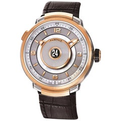 Fabergé Visionnaire DTZ Brown and 18 Karat Rose Gold Men's Watch