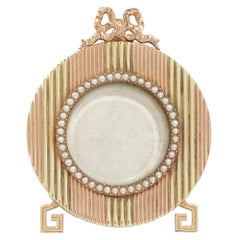 Fabergé Yellow and Rose Gold Miniature Picture Frame