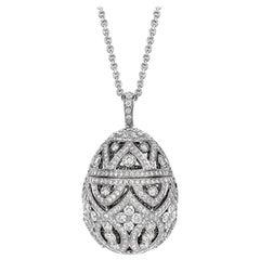Fabergé Imperial Zenya White Gold & Diamond Egg Pendant