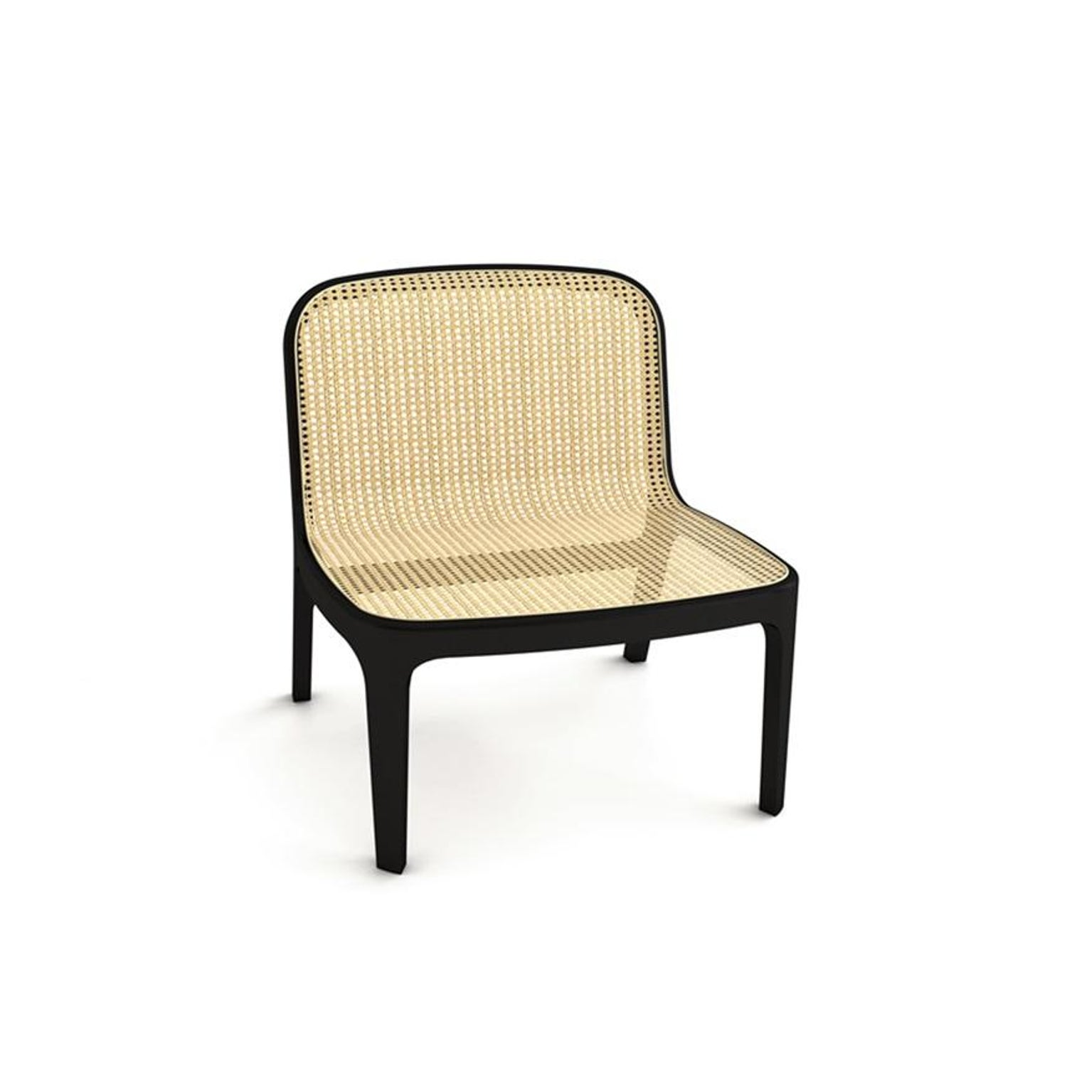 Studio Jean Marc Gady fabian lounge chair, contemporary french cane lounge chair