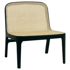 Fabian Lounge Chair, Contemporary French Cane Lounge Chair