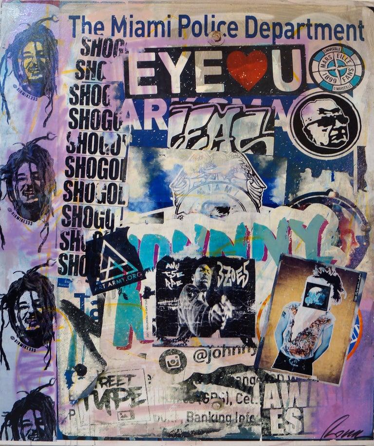 Fabien Rocca Figurative Painting - Eye love U
