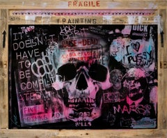 Raise the Dead - Skull Street Art & Graffiti