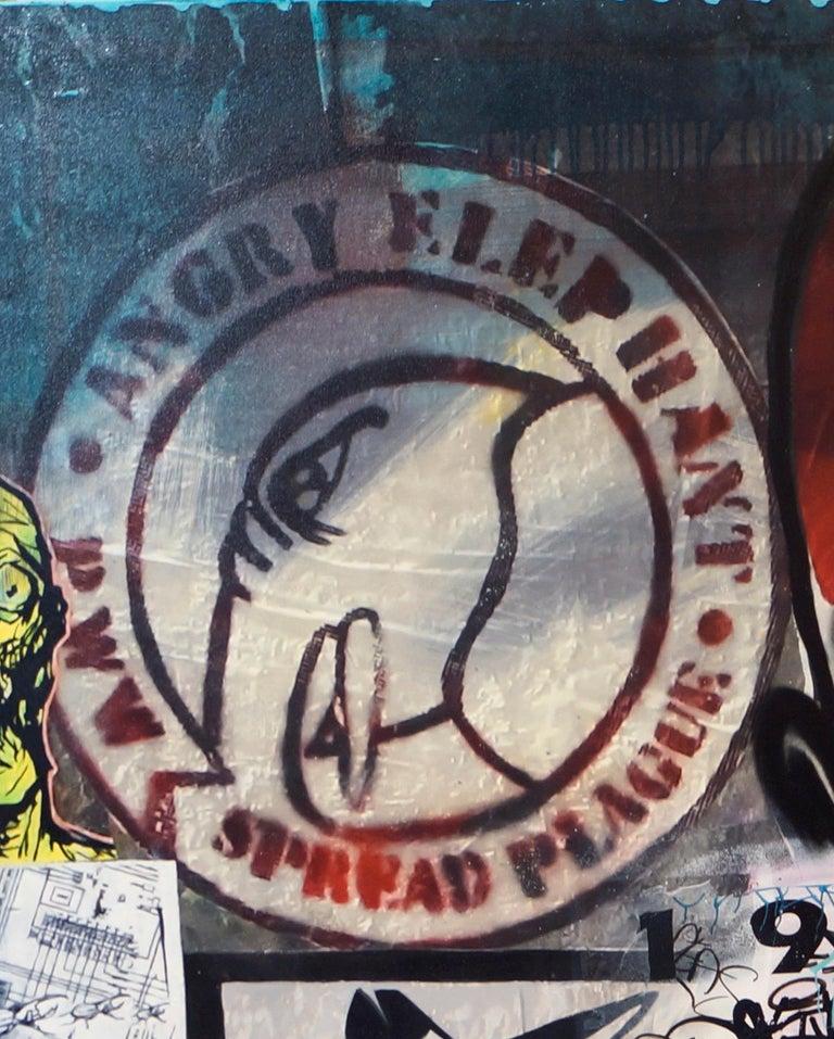 Skull extract - Street Art Mixed Media Art by Fabien Rocca