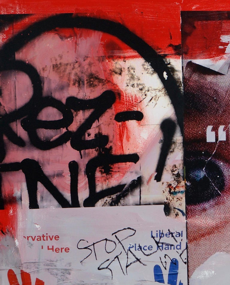 Talk to the stranger - Street Art Mixed Media Art by Fabien Rocca