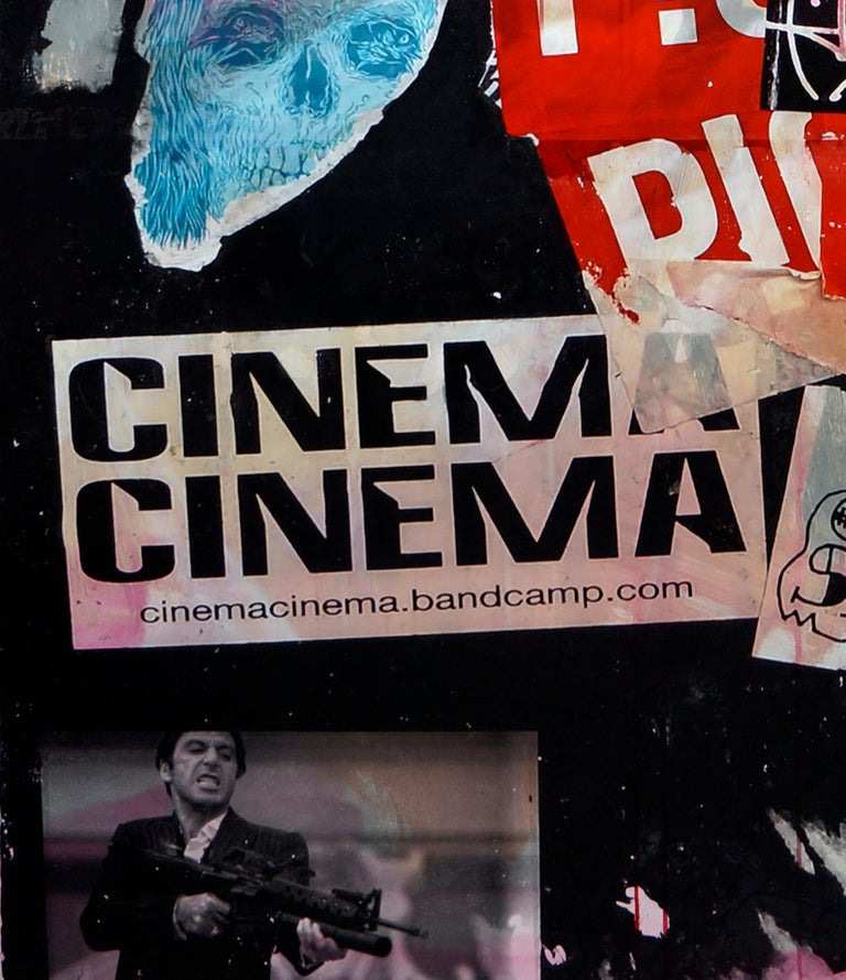 Cinema Cinema - Gray Figurative Painting by Fabien Rocca