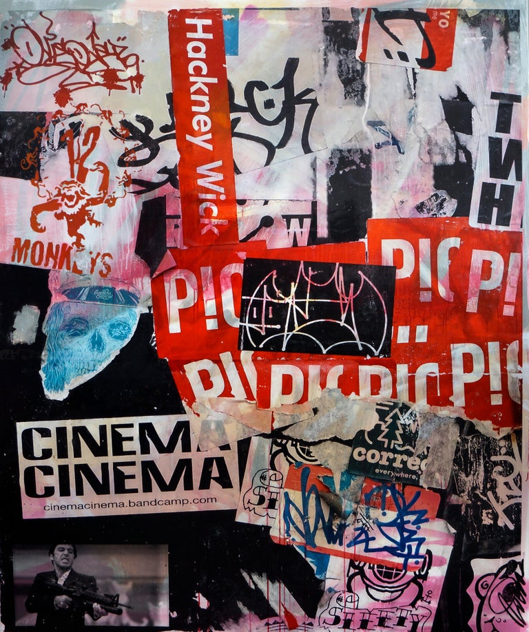 Fabien Rocca Figurative Painting - Cinema Cinema