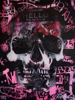 Post No Hate - Skull Street Art & Graffiti
