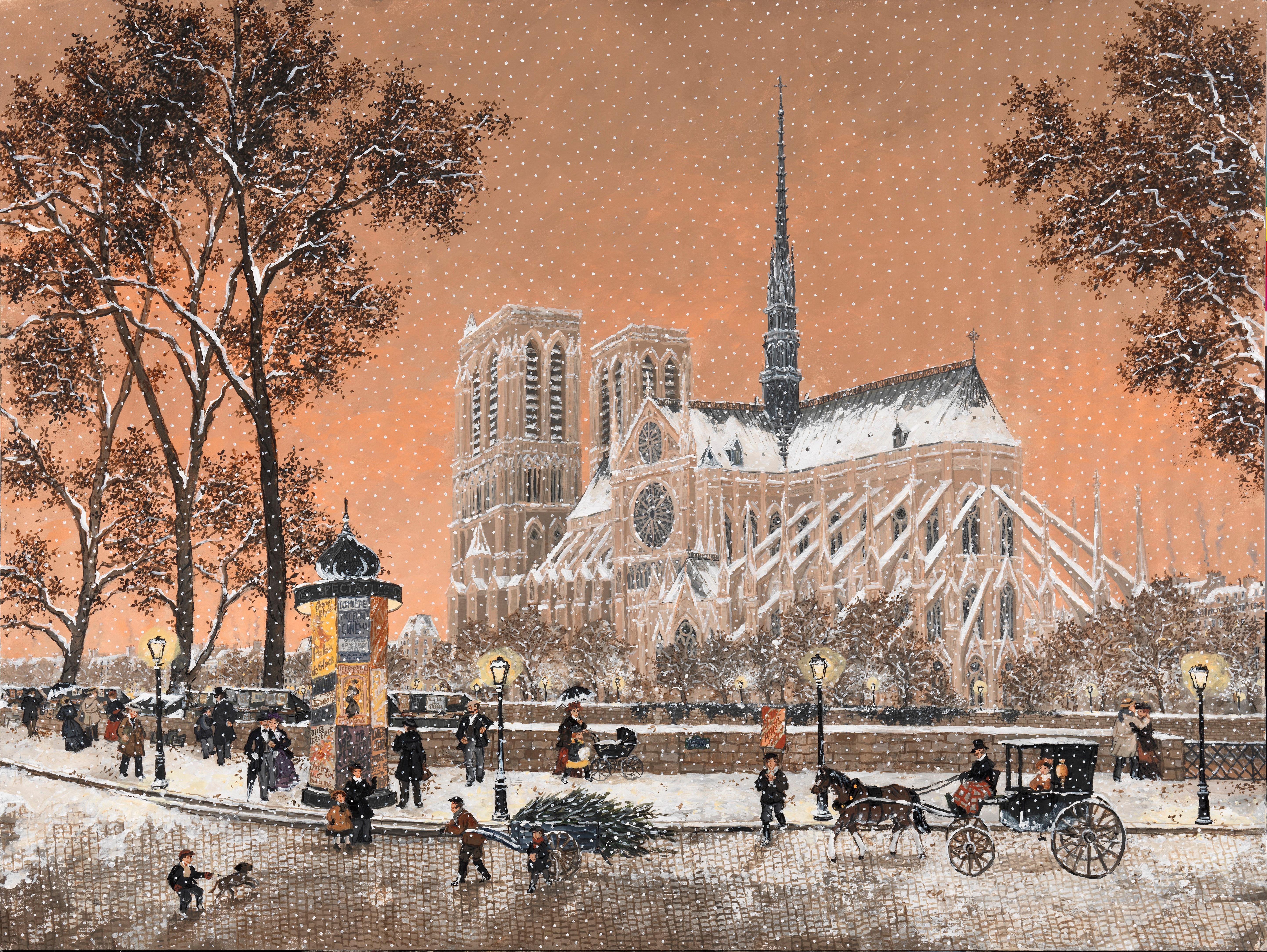 Première Neige sur Notre Dame