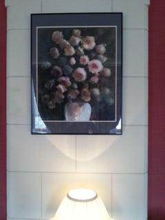 Roses bouquet - Le bouquet de roses, Mixed Media on Paper