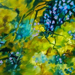 Autumn lights - Floral abstract, Painting, Oil on Canvas