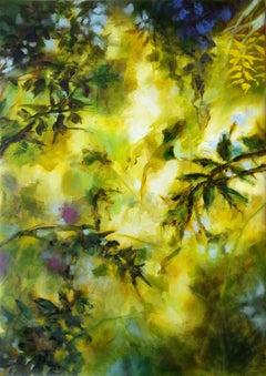 Autumn splendor - floral abstract, Painting, Oil on Canvas