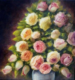 Bunch of roses, Painting, Acrylic on Canvas